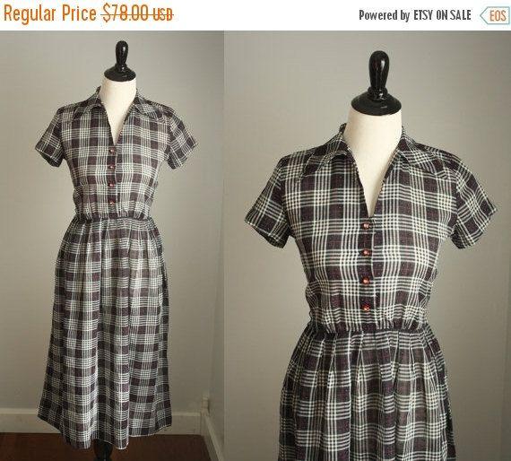 1950 年代の販売のドレスを  ヴィンテージ 50 s コットン シャツ ブラウス
