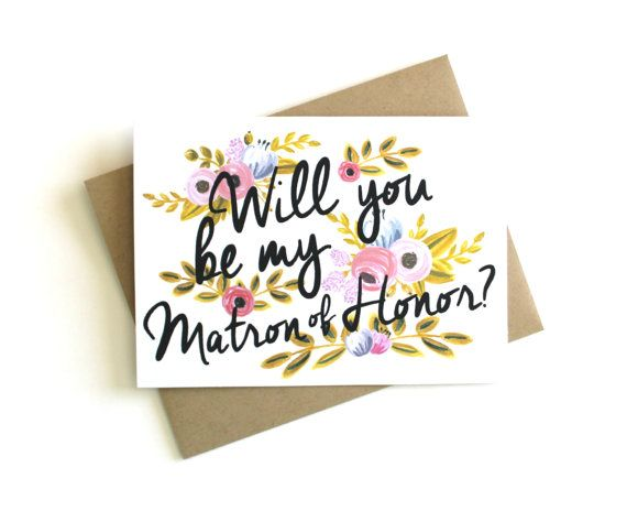 Matron of Honor Card 'Will You Be My Matron of Honor'