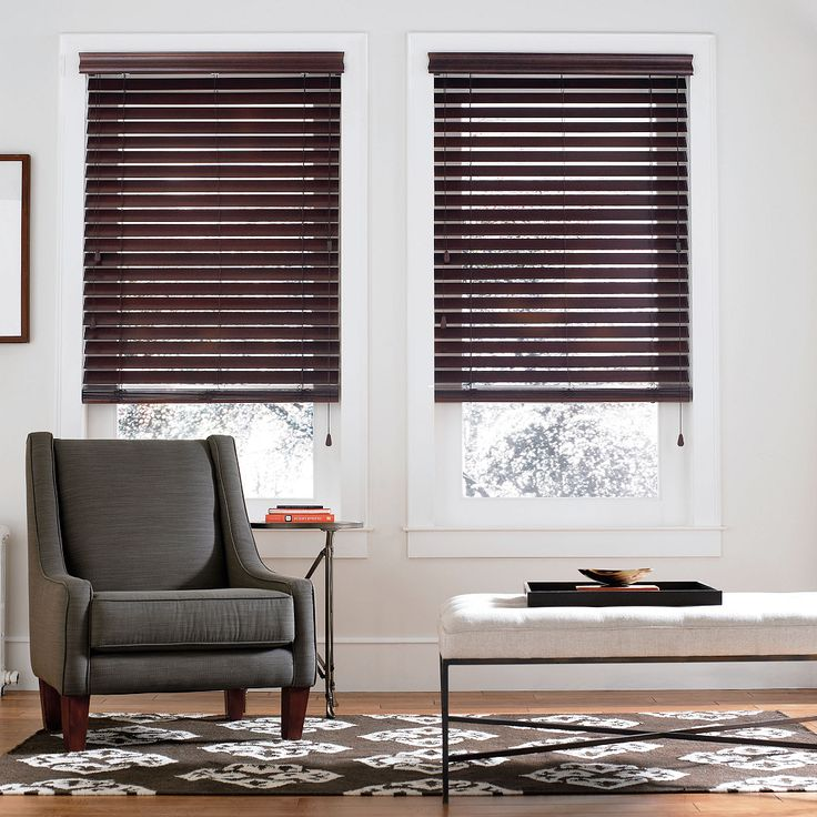 """""""Smart privacy"""" construction makes these real wood blinds prevent light from filtering through when closed."""