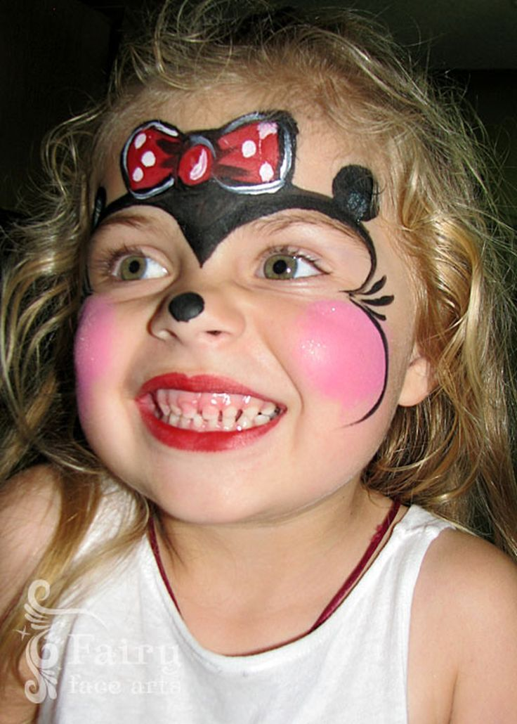 Minnie Mouse face painting design - Children's Entertainment Idea in Los Angeles CA