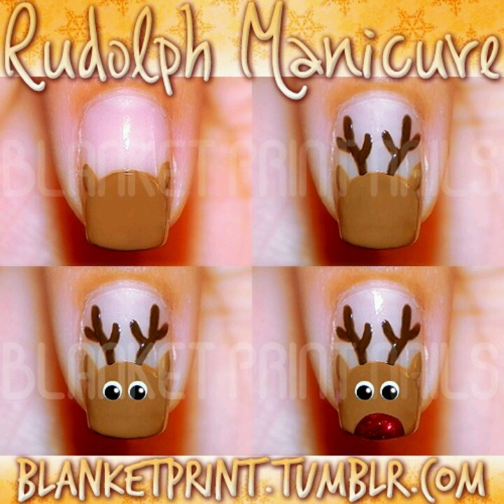 Step by step directions for christmas nails!