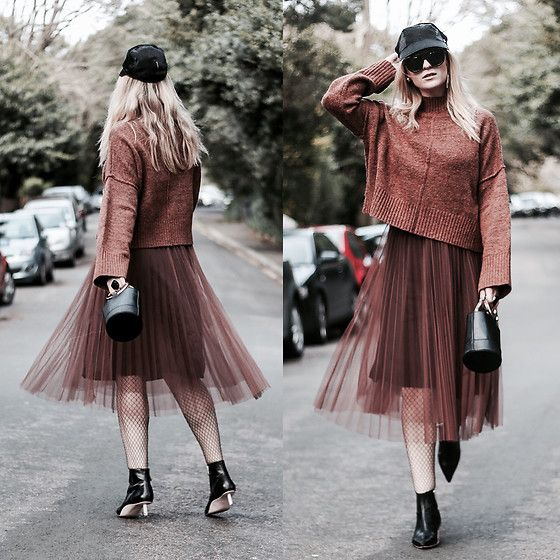 Get this look: http://lb.nu/look/8661203  More looks by Mad Cat Fashion: http://lb.nu/madcatfashion  Items in this look:  New Look Jumper, Statement Womenswear Tulle Skirt, Zara Boots, Primark Bag, Giorgio Armani Cap   #129 #eclectic #edgy #street #blogge
