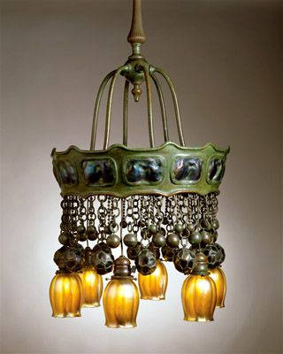 Tiffany Turtleback Electrolier. Circa 1905  Photo: The Neustadt Collection of Tiffany Glass, New York City