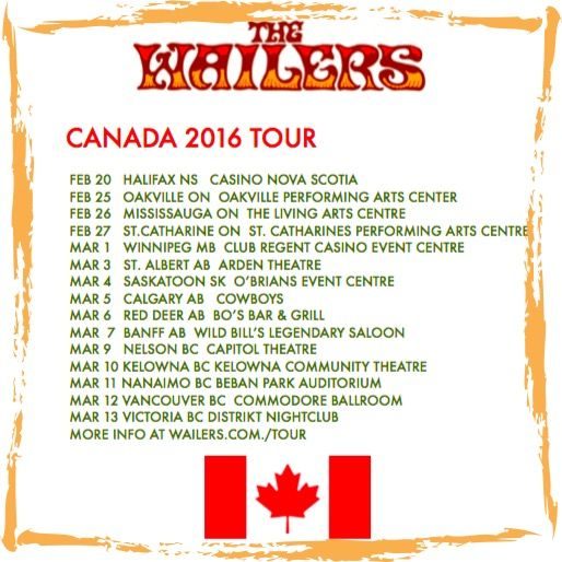 Beginning in late February, designated as Reggae Month, The Wailers embark on the biggest trans-Canada tour in their history. Starting in Eastern Canada, in Halifax, Nova Scotia, February 20th, the band will reach nearly every Canadian province traveling to Ontario, Manitoba, Alberta, Saskatchewan, and ending in Victoria, British Columbia. Fans can look forward to varied musical offerings from the extensive Bob Marley and the Wailers catalog each evening performing sets from Legend...