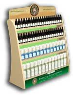 Permanent POP counter shelf  display for natural oils
