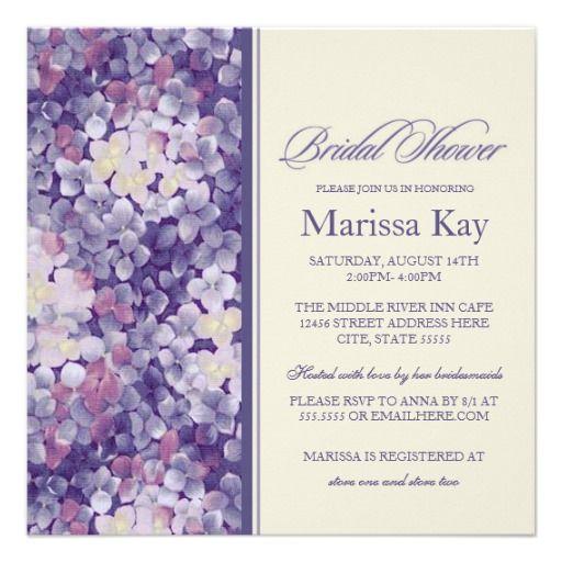 233 best bridal shower images on pinterest invite bachelorette purple floral lilac hydrangea bridal shower custom invitation invites invite invitation invitations filmwisefo Images