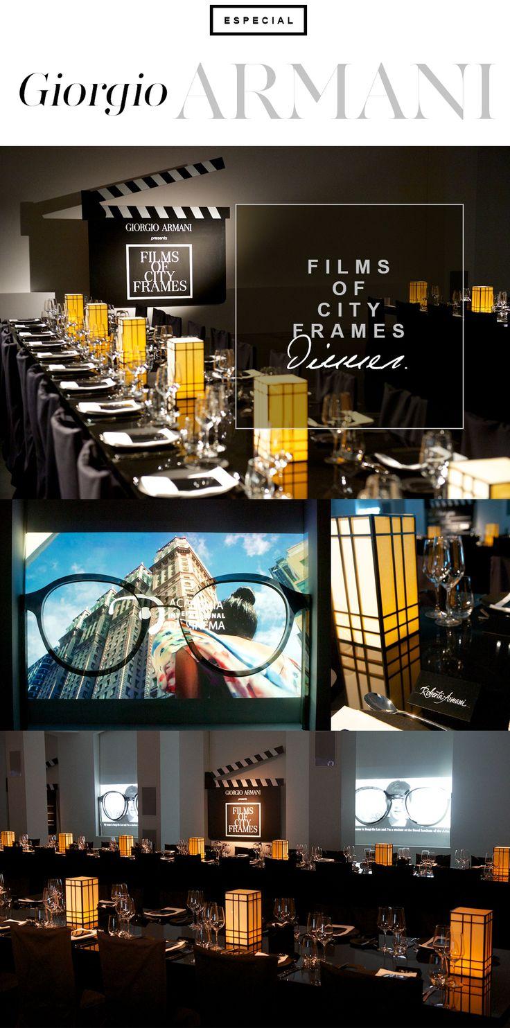 Conforme prometido, vamos ao jantar de gala que a Giorgio Armani organizou para celebrar o Films of City Frames na abertura do BFI (British Film Institute) London Film Festival.