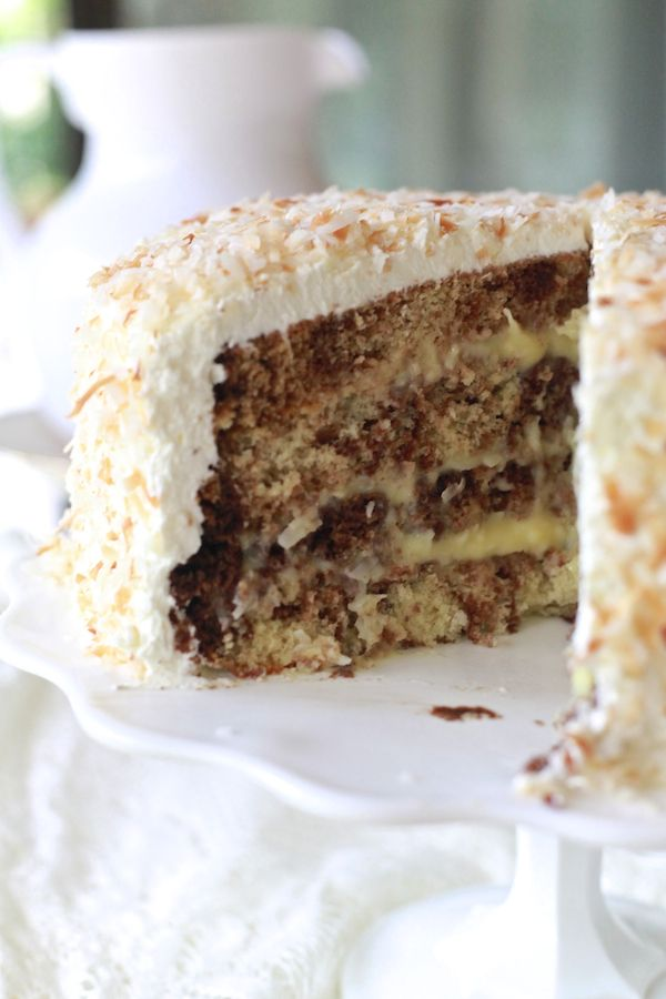 Coconut Cream Cakes, Meat Loaf, Meatloaf, Layered Cake, Cream Layered ...
