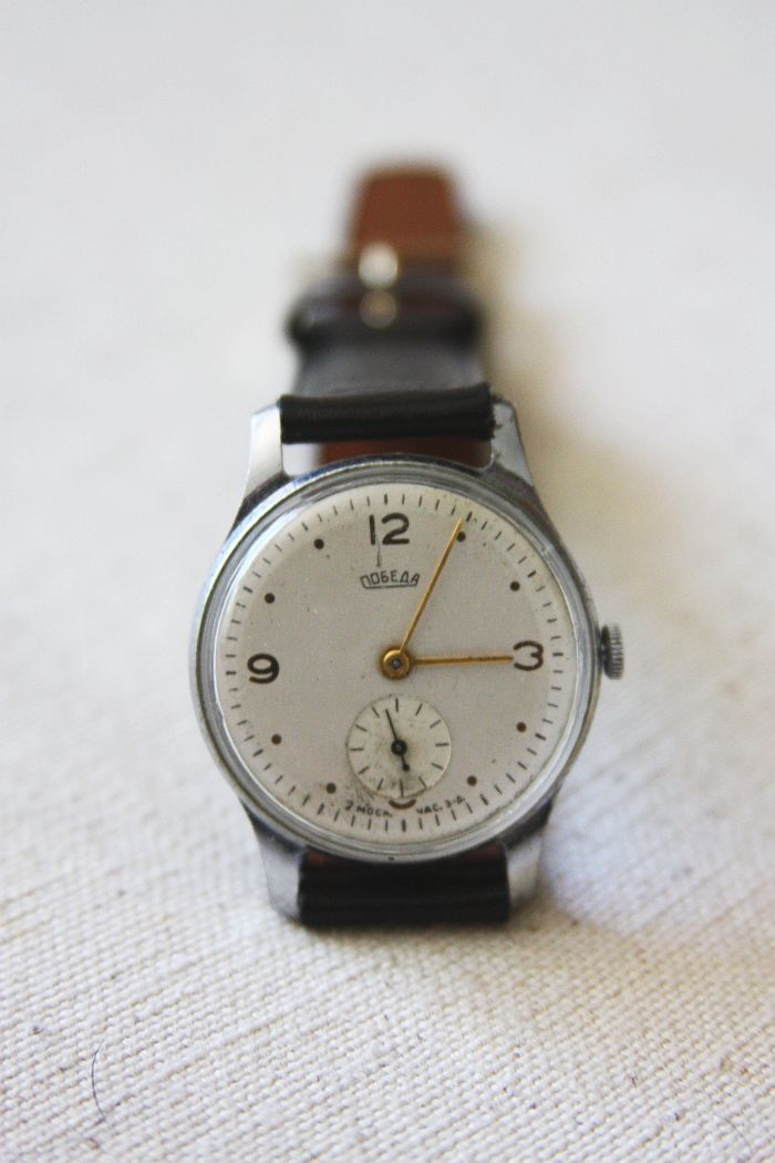 Vintage Soviet 'Pobeda' Watch. $84,00, via Etsy.