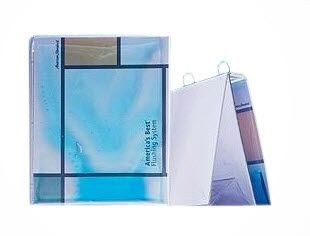 Try something different with your binders. This is a heavy duty clear PVC easel binder with a blue gel fill.  #binders #easel #gel #funbinders #oakvilleontario