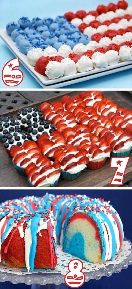 19 red white blue party ideas sweets and treats - Red white and blue party ideas ...