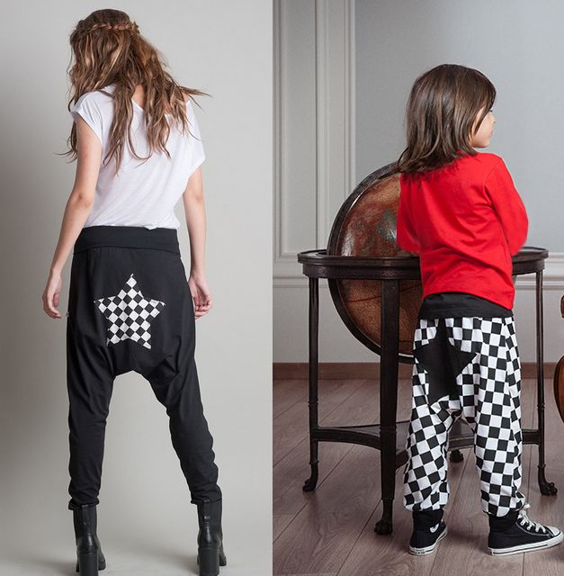 #FallWinter14_15 #MotherAndSon #Set  #MiniMe Comfy Applique Harem Pants! Easy To Wear And Match With A Variety Of Clothes And Colours, for mummy and me!  Shop Online>> http://www.sissychristidou.com/en/women/mommy/women-set.html