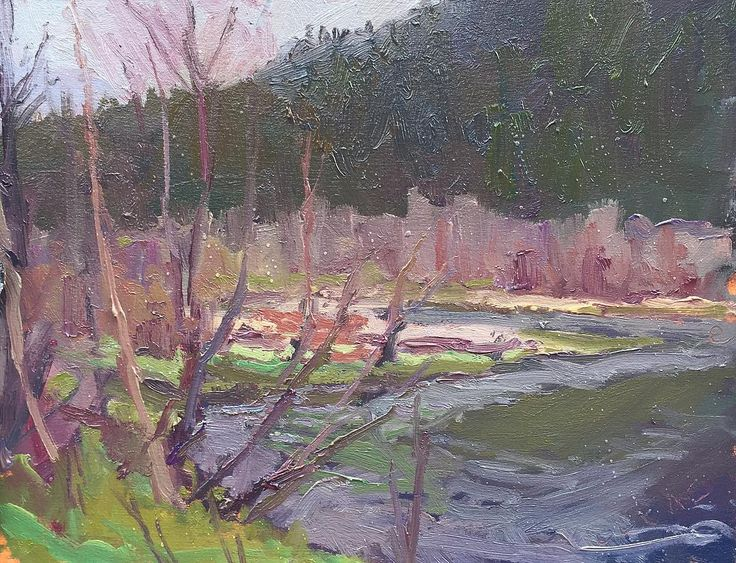 Trans Canada Highway closure.  When the highway's closed for an hour... paint.  #pleinair #pochade #pleinairpainter #impressionism #postimpressionism #landscape #landscapepainting #transcanadahighway