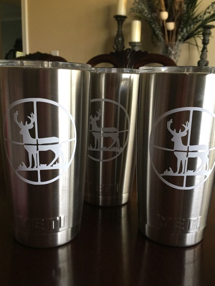 A personal favorite from my Etsy shop https://www.etsy.com/listing/258958376/mens-deer-hunting-scope-yeti-cup-decal