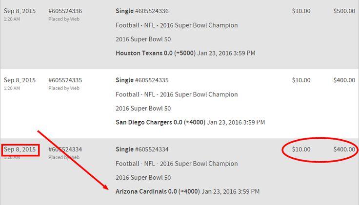 Arizona Cardinals Super Bowl Prop Bet