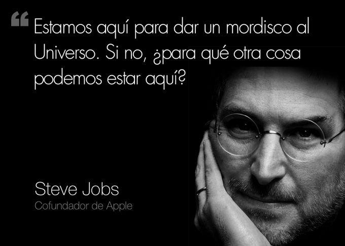 Steve Jobs Frase Mordisco Universo Steve Jobs Steve Jobs