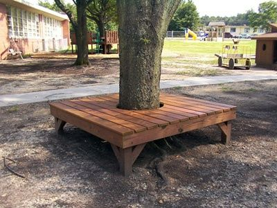 Wrap Around Tree Bench Needs To Be A Mix Of Simple To Build Comfortable For Adults A Great