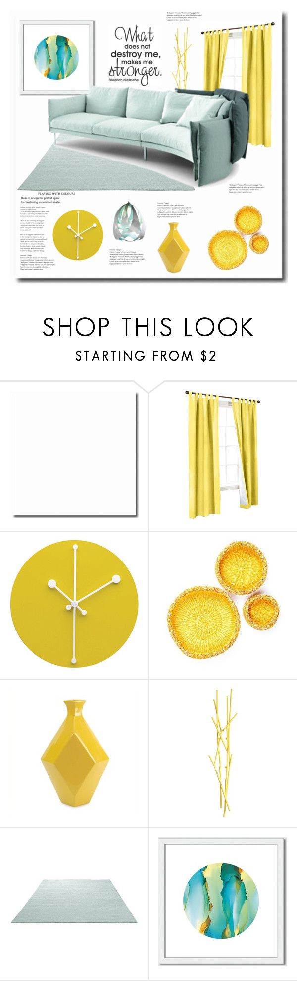 """Yellow"" by jana-masarovicova ❤ liked on Polyvore featuring interior, interiors, interior design, home, home decor, interior decorating, Alessi, IMAX Corporation, Covo and ESPRIT"