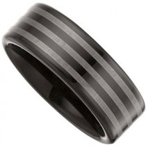 Black Immersion Plated & Laser Striped Band