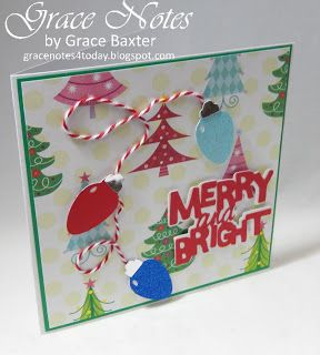 Strings of Lights are Merry and Bright! Visit the blog for more Christmas card ideas! #ChristmasCards