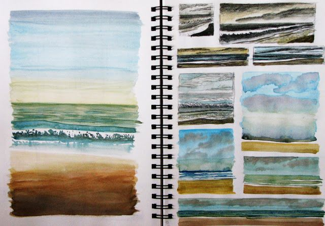 Lisa Le Quelenec Seaside studios paintings, prints and mixed media: Sketchbook pages