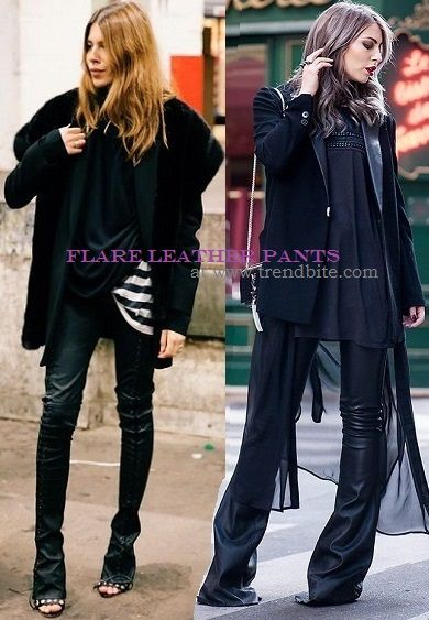 http://www.trendbite.com/2014/09/flare-leather-pants-how-to-wear-looks.html#.Vwvo_HqyV-w