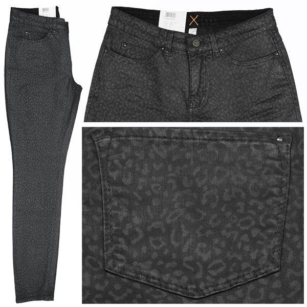 MAC Stretch Damen Jeans / Form: Dream Skinny / Farbe: schwarz mit Leomuster - FarbNr.: D073 / im MAC Jeans Online Shop