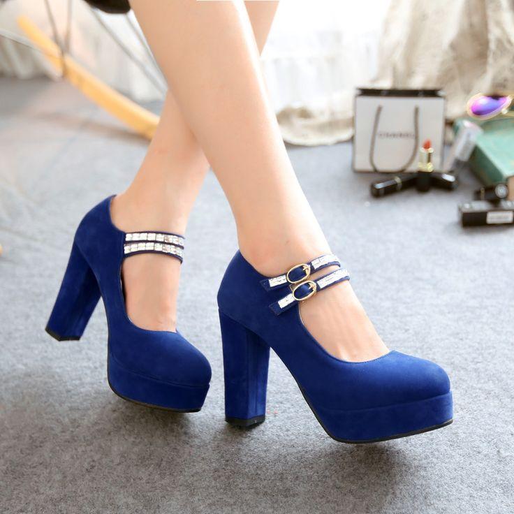 nice Эффектные и модные синие туфли (50 фото) — С чем носить в 2017? Читай больше http://avrorra.com/sinie-tufli-foto/