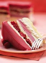 Frozen Raspberry Layered Cake Recipe from Delish - requires no baking. Raspberry sorbet, vanilla ice cream, frozen pound cake and fresh raspberries with piped whipped-cream border if you desire.  Yummo! http://media-cdn0.pinterest.com/upload/195273333813060779_5erADdHq_f.jpg lindadwiseman desserts