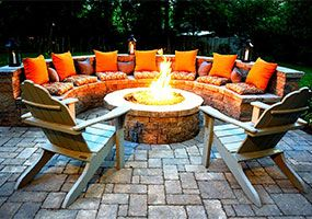 Outdoor Living, Firepit, New Jersey Landscaping, Green Meadows Landscaping, Inc.