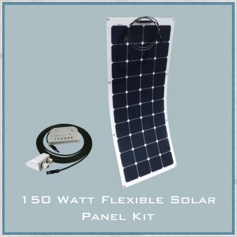 150w Flexible Solar Caravan Camper Van Motorhome Kit Flexible Solar Panels Solar Energy Panels Best Solar Panels