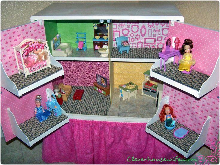 DIY Dollhouse from Repurposed Furniture