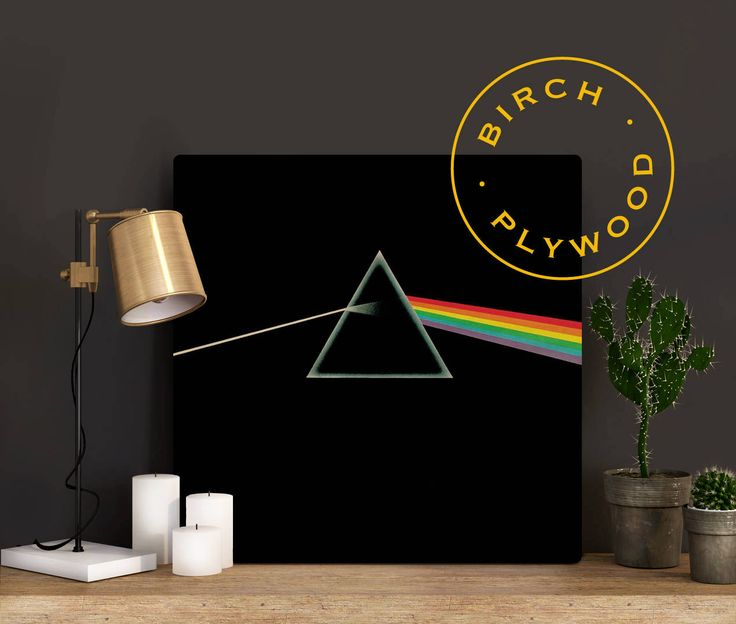 PINK FLOYD: The Dark Side of the Moon - Album Art on Wood, David Gilmour, Roger Waters, Syd Barrett, Richard Wright, Music Art, Music Poster by InHousePrinting on Etsy