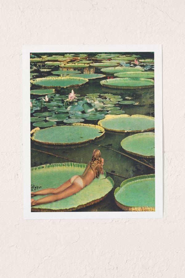 Beth Hoeckel Lily Pond Land Art Print In 2019 Art