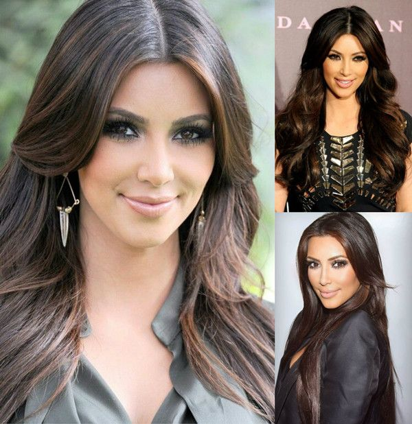 highlights hairstyle kim kardashian haare pinterest braunes haar mit highlights braune. Black Bedroom Furniture Sets. Home Design Ideas
