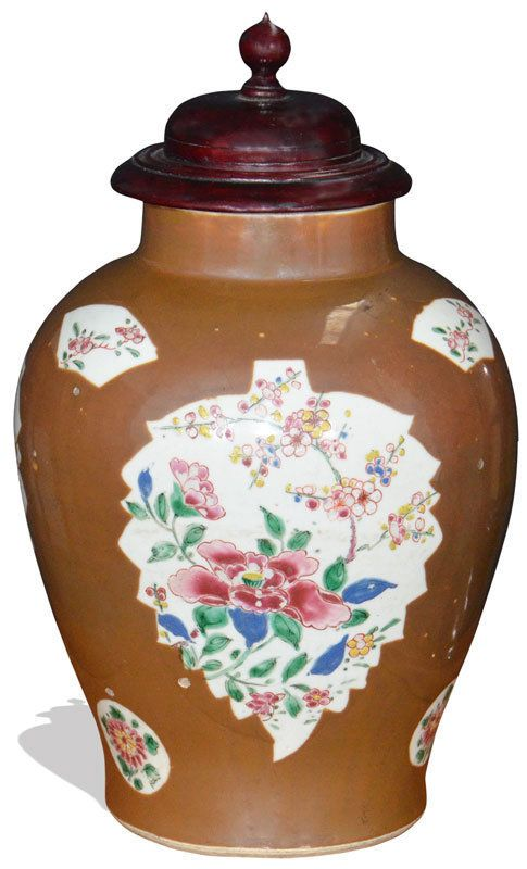 A Chinese Famille Rose Cafe Au Lait Jar