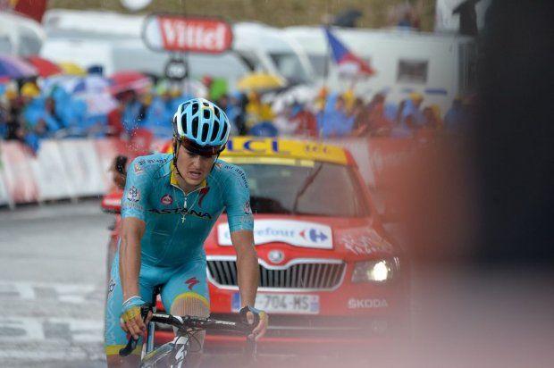 Jakob Fuglsang. Stage 12. Lannemezan to Plateau de Beille.