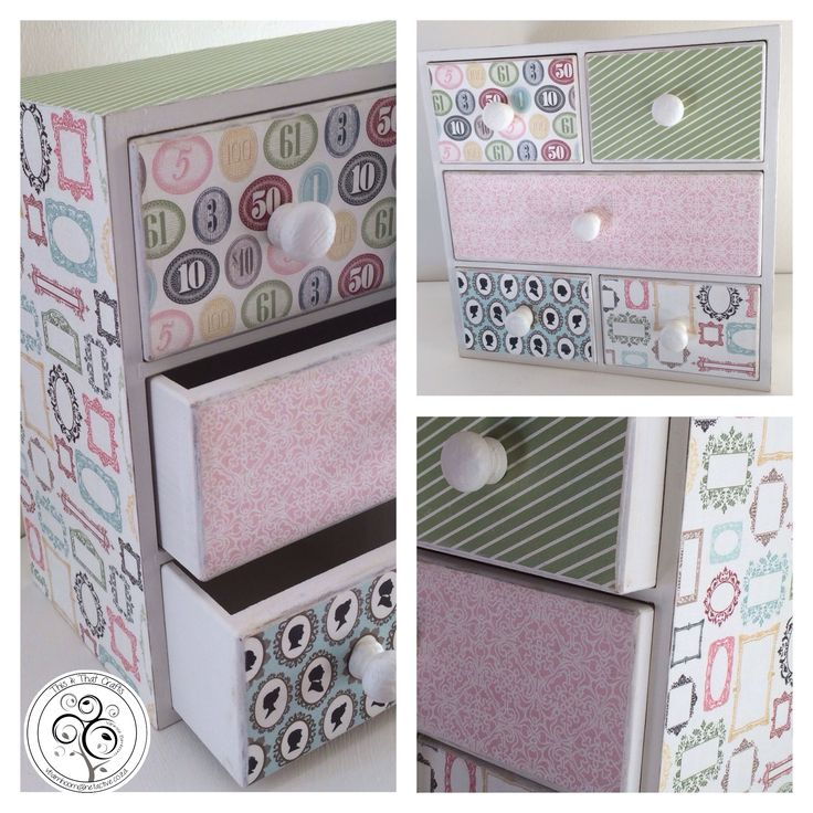 Drawer Unit - Pastel Range (30x15x30cm)