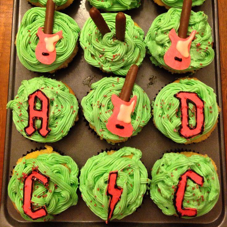 AC/DC cupcakes