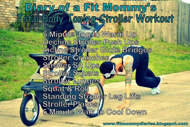 Diary of a Fit Mommy's Total Body Stroller Workout Printable