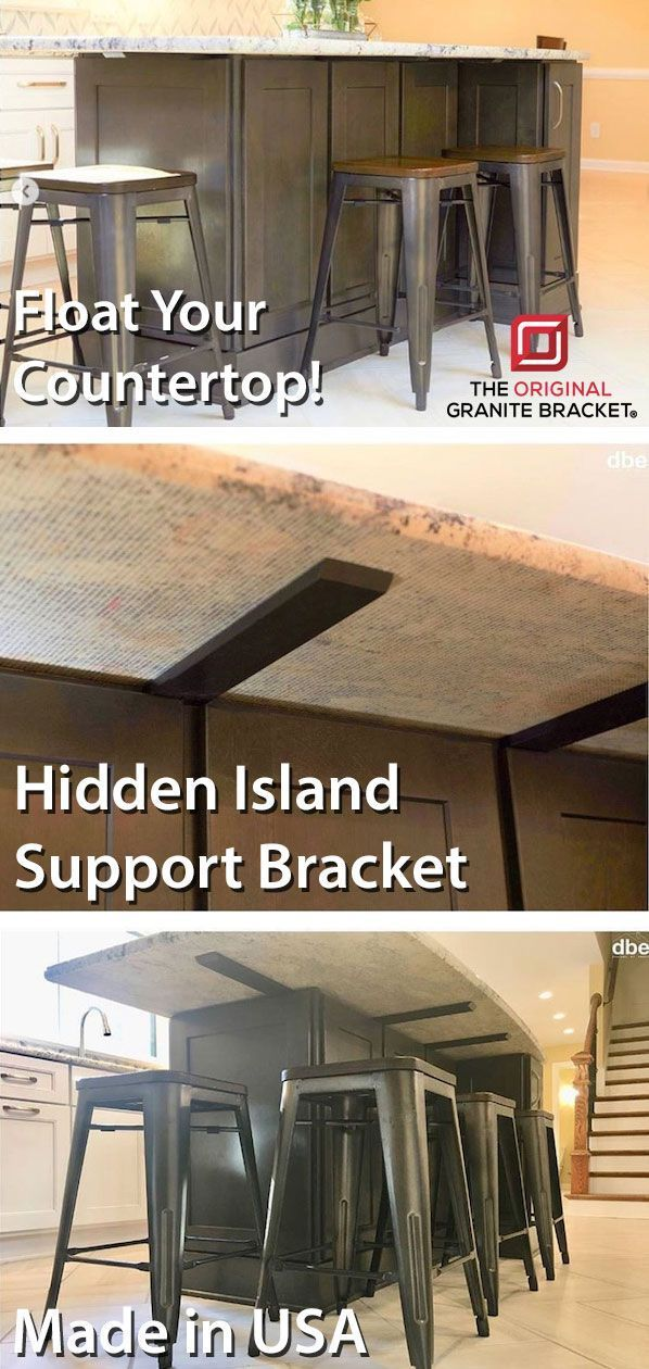 Safely And Invisibly Support Your Countertops With Hidden Support Brackets From The Original Gra Countertop Support Brackets Countertop Support Granite Bracket