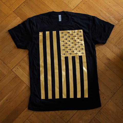 United Souls of America Black   Gold Men's T-Shirt – Kingdom ...