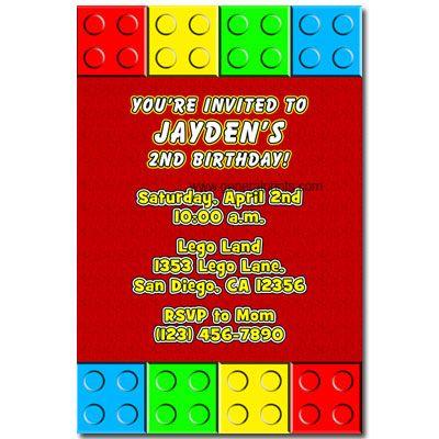 Unique Lego Invitations Ideas On Pinterest DIY Lego Birthday - Birthday party invitation ideas