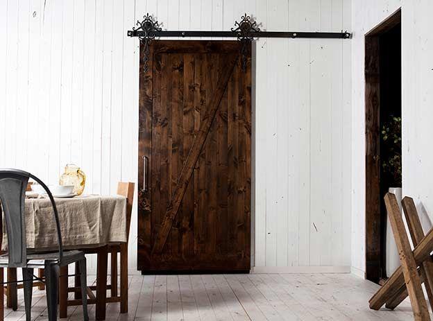 Interior Sliding Barn Door Design - For more Interior Barn Door treatments see InteriorBarnDoors.org
