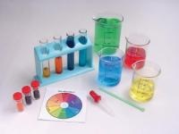 Colour Mixing Kit  Designed for children to help them understand the first   principles of colour mixing.   Children experiment with mixing coloured water.   They use the primary colours (red, blue, yellow) to make   new colours. Red, blue and yellow colour powder is   added to water in a clear cup. Children use droppers to   get the coloured water they want and mix the colours in   test tubes.  List Price: R 275.00