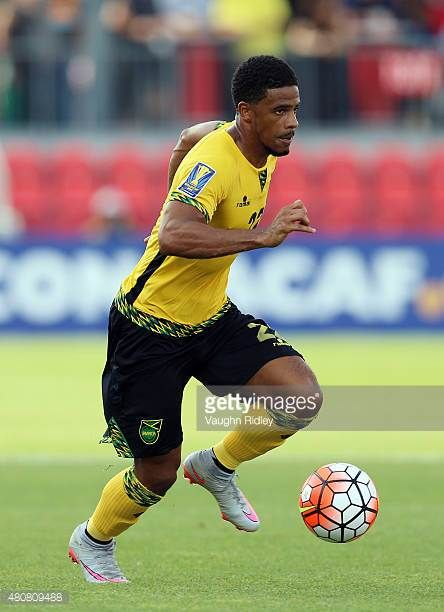 Garath McCleary of Jamaica during the 2015 CONCACAF Gold Cup Group B match between Jamaica and El Salvador at BMO Field on July 14 2015 in Toronto...