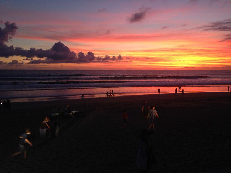 Sunset in Seminyak Bali