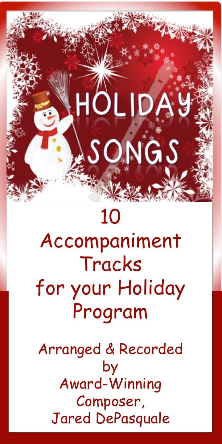 Holiday Songs for the Recorder Accompaniment Soundtrack