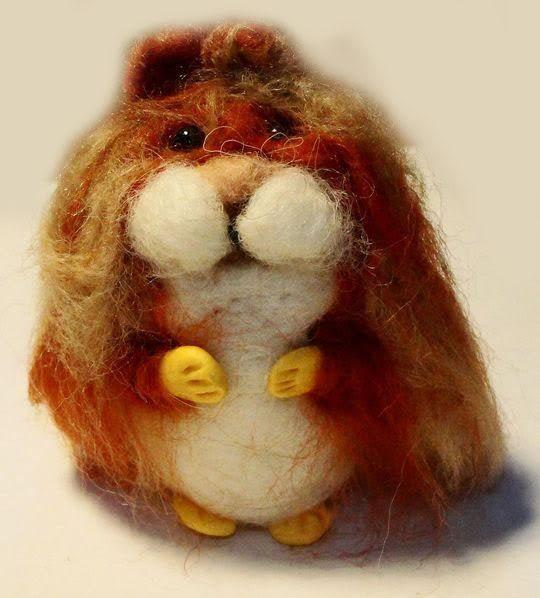 sweet Hamster needle felted miniature beautiful animal toys  handmade #1 | eBay