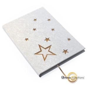 livre d'or étoiles dorées
